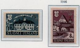 PIA - FINLANDIA  - 1946 : 6° Centenario Della Città Di Porvoo   - (Yv 317-18) - Neufs
