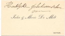 Visitekaartje - Carte Visite - Julia & Marie De Milt  - Deinze - Cartes De Visite