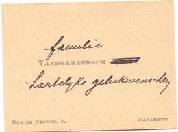 Visitekaartje - Carte Visite - Familie Vandermeersch - Nazareth - Cartes De Visite