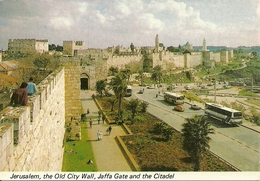 Jerusalem, Gerusalemme (Israele) The Old City Wall, Jaffa Gate, The Citadel And Mt. Sion - Israele