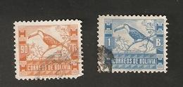 Bo4-7-2. America Correos De BOLIVIA 1 B. & 90 Cts 1939 TUCAN - Bolivia