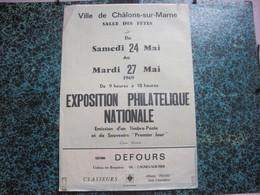 Affiche De L'Exposition Philatélique Nationale De Châlons-sur-Marne (51) - Mai 1969 / Créateur KARCZEWSKI Léon. - Timbres