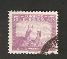 Bo4-8-1. America Correos De BOLIVIA 5 Cts 1939 LLAMAS - Bolivia