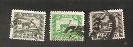 Bo4-8-2. America Correos De BOLIVIA 10 15 20 Centavos 1939 VICUNA - Bolivia