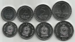 Sri Lanka 1 - 2 - 5 - 10 Rupees 2017. High Grade Set - Sri Lanka