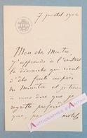 L.A.S 1902 Ferdinand HUMBERT Peintre - à William BOUGUEREAU - Cercle De L'Union Artistique - Lettre Autographe LAS Paris - Autographes