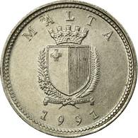 Monnaie, Malte, 2 Cents, 1991, TTB, Copper-nickel, KM:94 - Malta