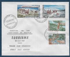 St Pierre Et Miquelon - N° 385 / 386 + PA  44 / 45  Sur FDC - ( Cote Des Timbres Oblitérés  32,00 € ) - FDC