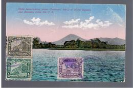 NICARAGUA VISTA PANORAMICA PRESA COSMAPA HACIA EL NORTE INGENIO SAN ANTONIO LEON Ca 1920 OLD POSTCARD - Nicaragua