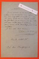 L.A.S 1876 Daniel VIERGE - Peintre & Dessinateur - Lettre Autographe - Né à Madrid Décédé à Boulogne Sur Seine - Autographes