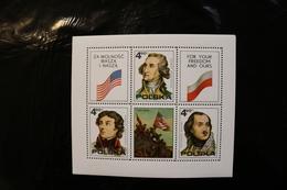 Poland 2122 American Revolution Bicent Washington More Souvenir Sheet Block MNH 1976 A04s - Blocks & Sheetlets & Panes
