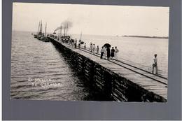 NICARAGUA Gran Lago El Muelle De Granada Ca 1920 OLD REAL PHOTO POSTCARD - Nicaragua