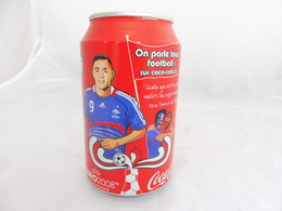 COCA COLA® CANETTE VIDE EURO 2008 ON PARLE TOUS FOOTBALL KARIM BENZEMA 2009 FRANCE 33 Cl - Cannettes