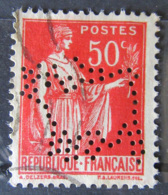 France - Timbre Paix 50c Yt N°283 Perforé Vache Chocolat Vinay - Oblitéré - France