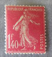 France - Timbre Semeuse 1f40 Rose YT N°196 Neuf Avec Gomme - TB - France