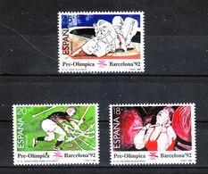 Spagna - 1990. Pre-Olimpiadi Barcellona. Hockey Prato, Alterofilia, Judo. Grass Hockey, Halterofilia, Judo.MNH - Estate 1992: Barcellona