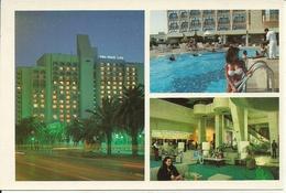 """Tunis (Tunisia) """"Abou Nawas"""" Hotel, Esterne Notturno, La Hall E La Piscina, The Hall And The Swimmingpool - Tunisia"""