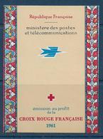 Carnet Croix Rouge De 1961  **-  Cote : 47 € - Carnets
