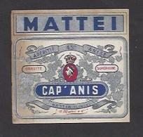 Etiquette D'Anis  -  Cap' Anis  -  JN  Mattei à Bastia Corse (20)  -  6.2 X 6 Cm - Etiquettes