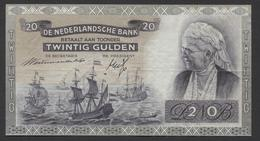 Netherlands  20 Gulden 09-07-1939 - 26-9-1945  NO: EH 080690  - See The 2 Scans For Condition.(Originalscan ) - 20 Gulden