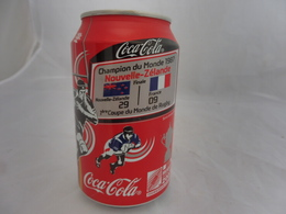 COCA COLA® CANETTE VIDE CHAMPION DU MONDE RUGBY 1987 NOUVELLE-ZELANDE FRANCE SERIE LIMITEE 2007 FRANCE 33 Cl - Scatole E Lattine In Metallo