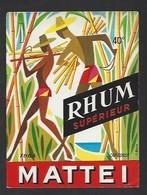 Etiquette De Rhum Supérieur  -  Mattei  à  Toga  (Cap Corse)  Corse (20) - Etiquettes