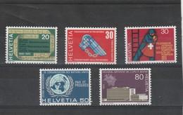 Suisse  Neuf **    1970  N° 850/854   Timbres De Propagande.  Série Complète - Neufs