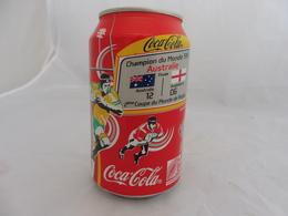COCA COLA® CANETTE VIDE CHAMPION DU MONDE RUGBY 1991 AUSTRALIE ANGLETERRE SERIE LIMITEE 2007 FRANCE 33 Cl - Blikken