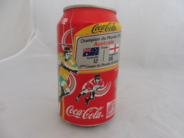 COCA COLA® CANETTE VIDE CHAMPION DU MONDE RUGBY 1991 AUSTRALIE ANGLETERRE SERIE LIMITEE 2007 FRANCE 33 Cl - Scatole E Lattine In Metallo
