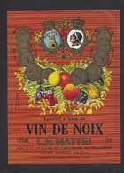 Etiquette D' Apéritif à Base De VIn De Noix  Mattei -  Sté Des Vins Du Cap Corse  à Borgo  Bastia  Corse (20) - Labels