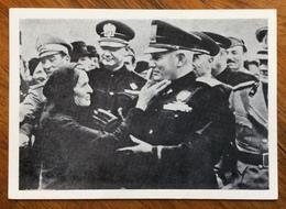 FASCISMO BENITO MUSSOLINI  TRA IL POPOLO  Da Villa Carpena 1983 Con L'annullo Postale Del Centenario - Storia