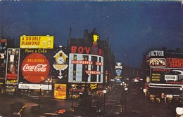 LONDON - NIGHT SCENE PICCADILLY CIRCUS, Karte Gel.1962 - Piccadilly Circus