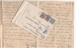 V1 - ÖSTERREICH 1925 - 1 + 2x7 Gro Auf Brief Mit Inhalt, Gel.v. ? > Wien II - 1918-1945 1. Republik