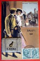 SAN REMO - PORTA S. GIUSEPPE - CARTE A SYSTEME CONTENANT 10 VUES - 2 SCANS - San Remo