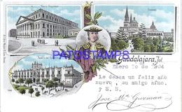 111966 MEXICO GUADALAJARA ART MULTI VIEW CIRCULATED TO JALISCO POSTAL POSTCARD - México