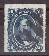 Brésil - 1876/77 - N° 32 Oblitéré - Percé En Ligne - Empereur Pedro II - Brésil