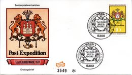 "BRD Schmuck-FDC ""Tag Der Briefmarke 1977"", Mi. 948 ESSt 13.10.1977 BONN 1 - [7] Repubblica Federale"