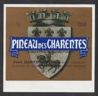 Etiquette  Pineau Des Charentes  -  Jean Martinaud à Chantillac  (16) - Etiquettes