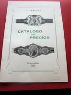 ANILLOS DE CIGARO CATALOGO DE PRECIOS BAGUES CIGARES Facturas De Papel Antiguas Y Documentos Comerciales De España-1965 - España
