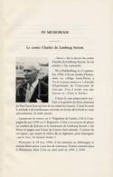 Boekje / In Memoriam / Comte Charles De Limburg Stirum / Homme Politique Belge Du Parti Catholique / 1989 / Sénateur - Religión & Esoterismo