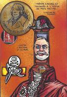 CPM Timbre Monnaie Jihel Tirage Signé 30 Exemplaires Numérotés Signés Napoléon Guillotine - Coins (pictures)