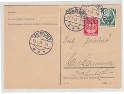 Saarabstimmung 1935 Set On Postcard FD Postmark Edenkoben B190510 - Alemania