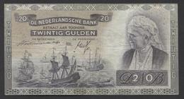 Netherlands  20 Gulden 09-07-1939 - NO: DN 100188 Replacement  - See The 2 Scans For Condition.(Originalscan ) - 20 Gulden
