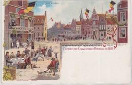 CP  - EXPO. UNIV.  BRUXELLES 1897 - Fêtes, événements