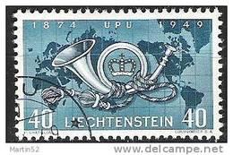 Liechtenstein 1949: 75 Jahre UPU  Zu 227 Mi 277 Yv 242 Mit Eck-Stempel VADUZ  (Zumstein CHF 7.00) - Liechtenstein