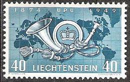 Liechtenstein 1949: 75 Jahre UPU  Zu 227 Mi 277 Yv 242 ** Postfrisch MNH (Zumstein CHF 7.00) - Liechtenstein