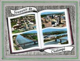 CPSM Dentelée - CHALAMPé (68) - Carte De Multi-vues Aériennes Au Livre Ouvert (album-photo) Des Années 60 - Chalampé