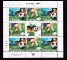 Bosnia(CPПCKA)-2006,(Mi.495-496), Sheet, Football, Soccer, Fussball,calcio,MNH - Coppa Del Mondo