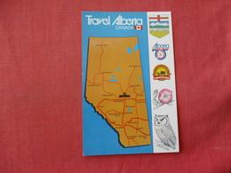 Advertising Map Travel Alberta Canada      Ref 3341 - Advertising