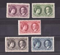 Luxembourg - 1927 - N° 187 à 191 - Neufs * - Exposition Philatélique - Gde Duchesse Et Prince Félix - Neufs